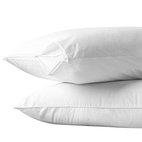 5. AllerEase Cotton Pillow Protector