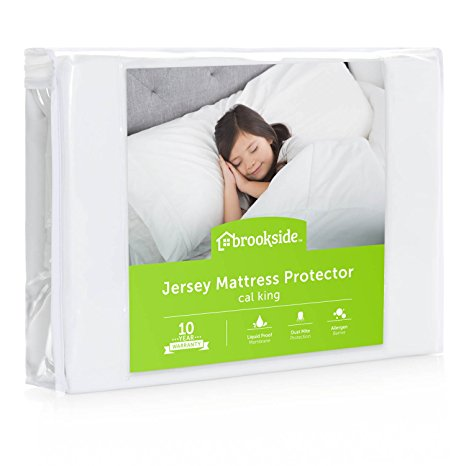 10. BROOKSIDE Soft Jersey Mattress Protector