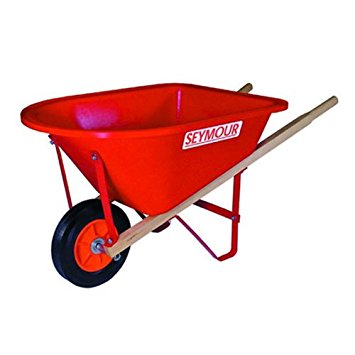 6. Seymour WB-JR poly tray lightweight children's size wheelbarrow