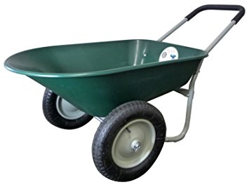 4. Marathon dual-wheel residential yard rover wheelbarrow and yard cart.