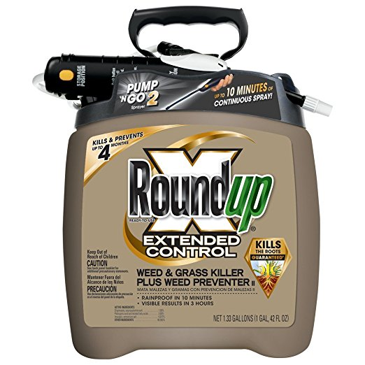 7. Roundup 5725070 extended control weed and grass killer.