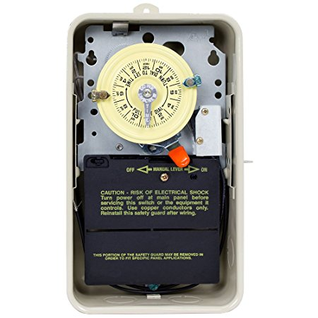6. Intermatic T101R201 Time Switch/Metal Enclosure Heat Protect